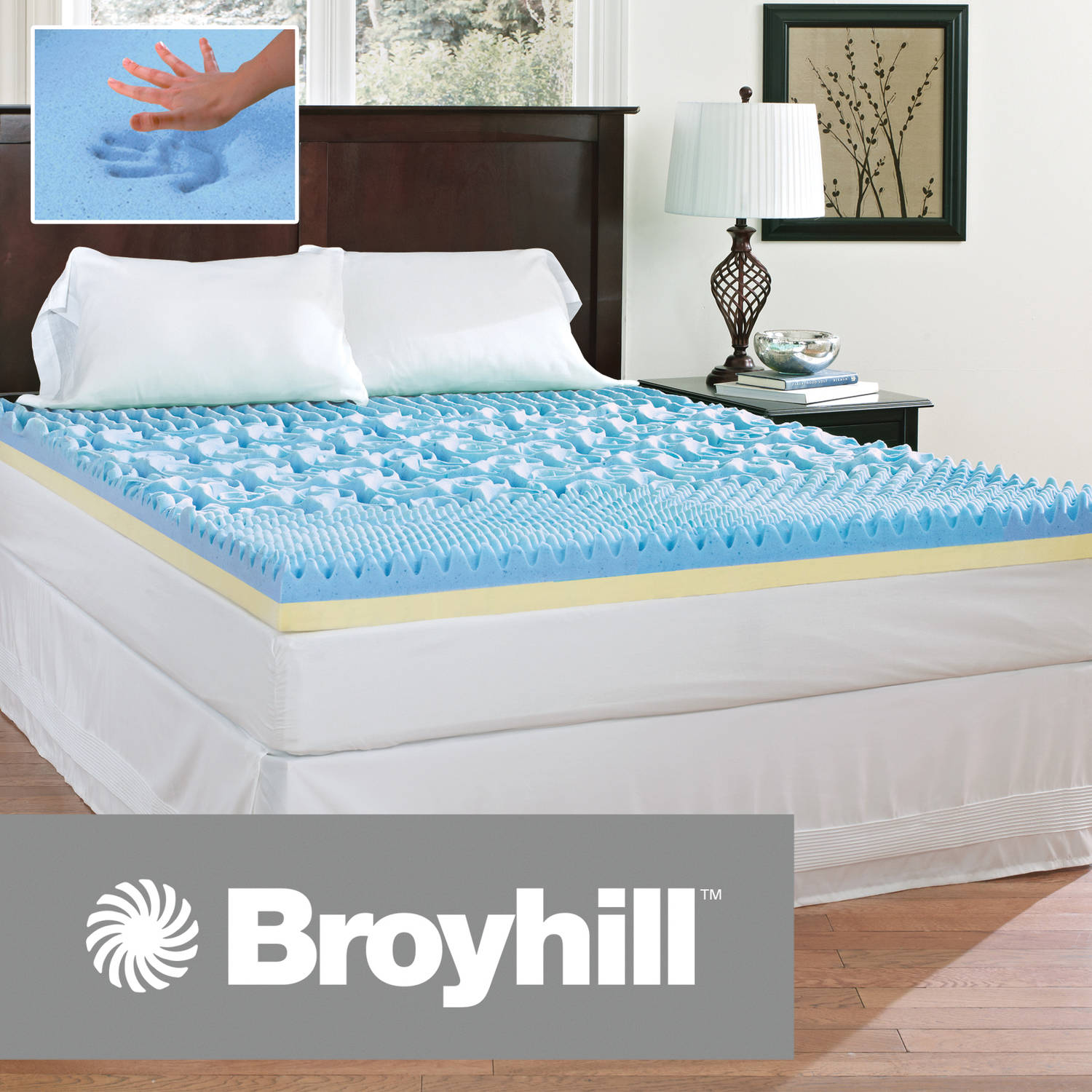 "Broyhill Comfort Temp 4"" Gel Memory Foam Mattress Topper"