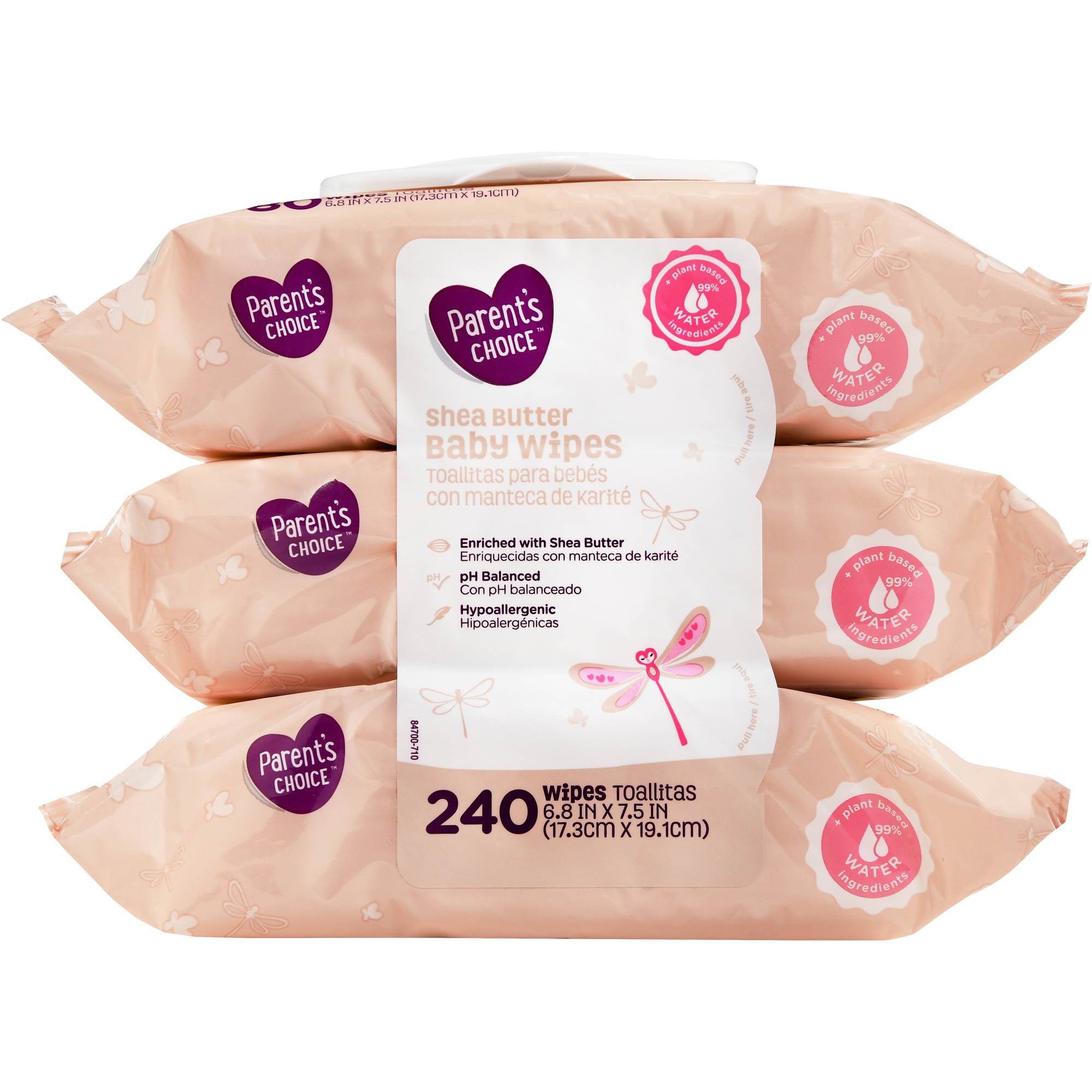 Parent's Choice Soothing Shea Butter Wipes, 240 sheets