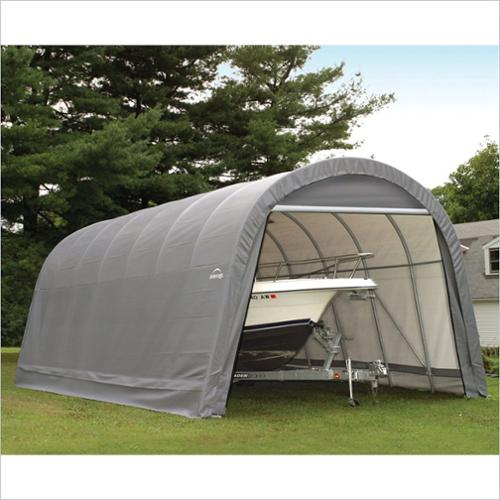 ShelterLogic 14x28'x12' Round Style Shelter in Gray