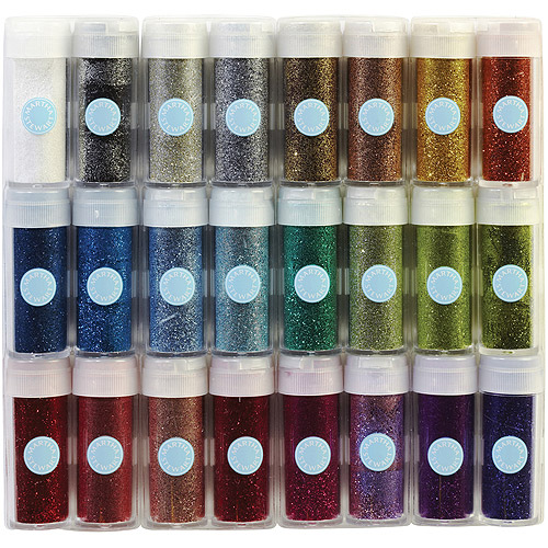 Martha Stewart Crafts Glitter Set, 24/pkg