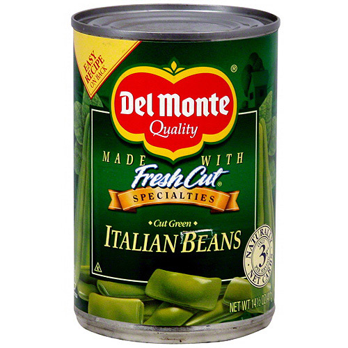 Del Monte Cut Green Italian Beans, 14.5 oz (Pack of 12)