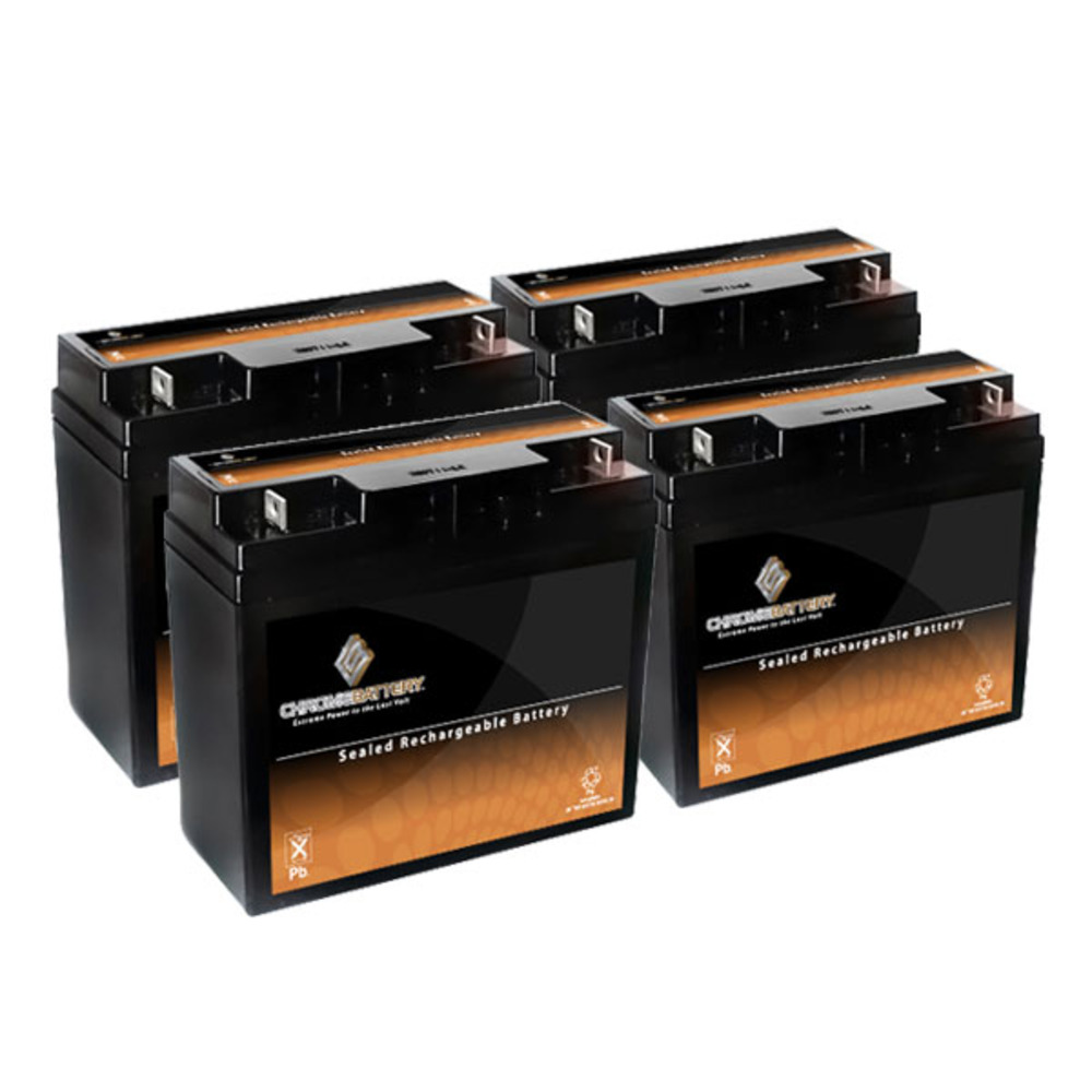 12V 20AH Sealed Lead Acid (SLA) Battery - T3 Terminals - for ZB-12-20 - 4PK