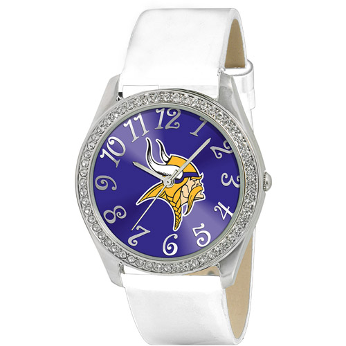 Game Time NFL Women's Minnesota Vikings Glitz Watch, Silver