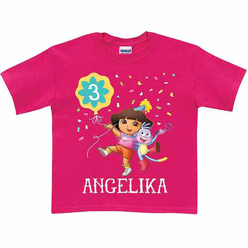 Personalized Dora the Explorer Girls' Birthday T-Shirt