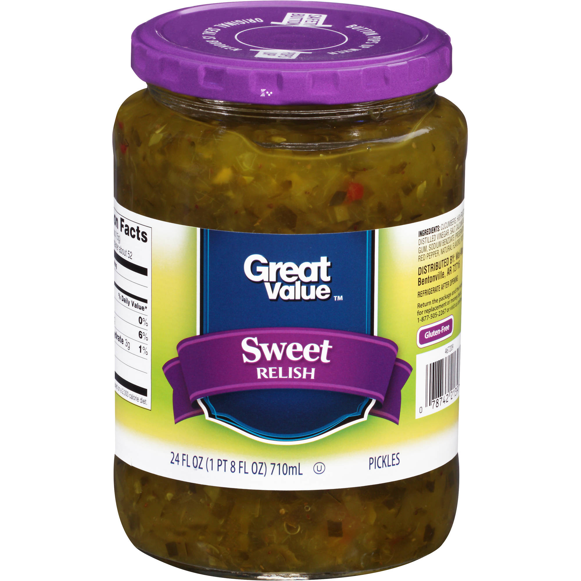 Great Value Sweet Relish, 24 fl oz