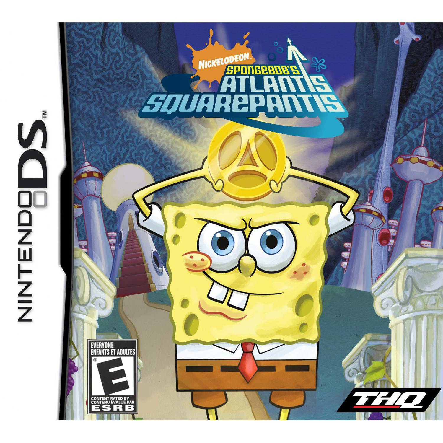 Spongebob Atlantis Squarepantis NDS Game and Sakar NDS Case Bundle