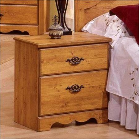 South Shore Prairie Nightstand, Pine