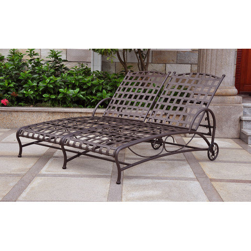 International Caravan Santa Fe Double Patio Chaise Lounge