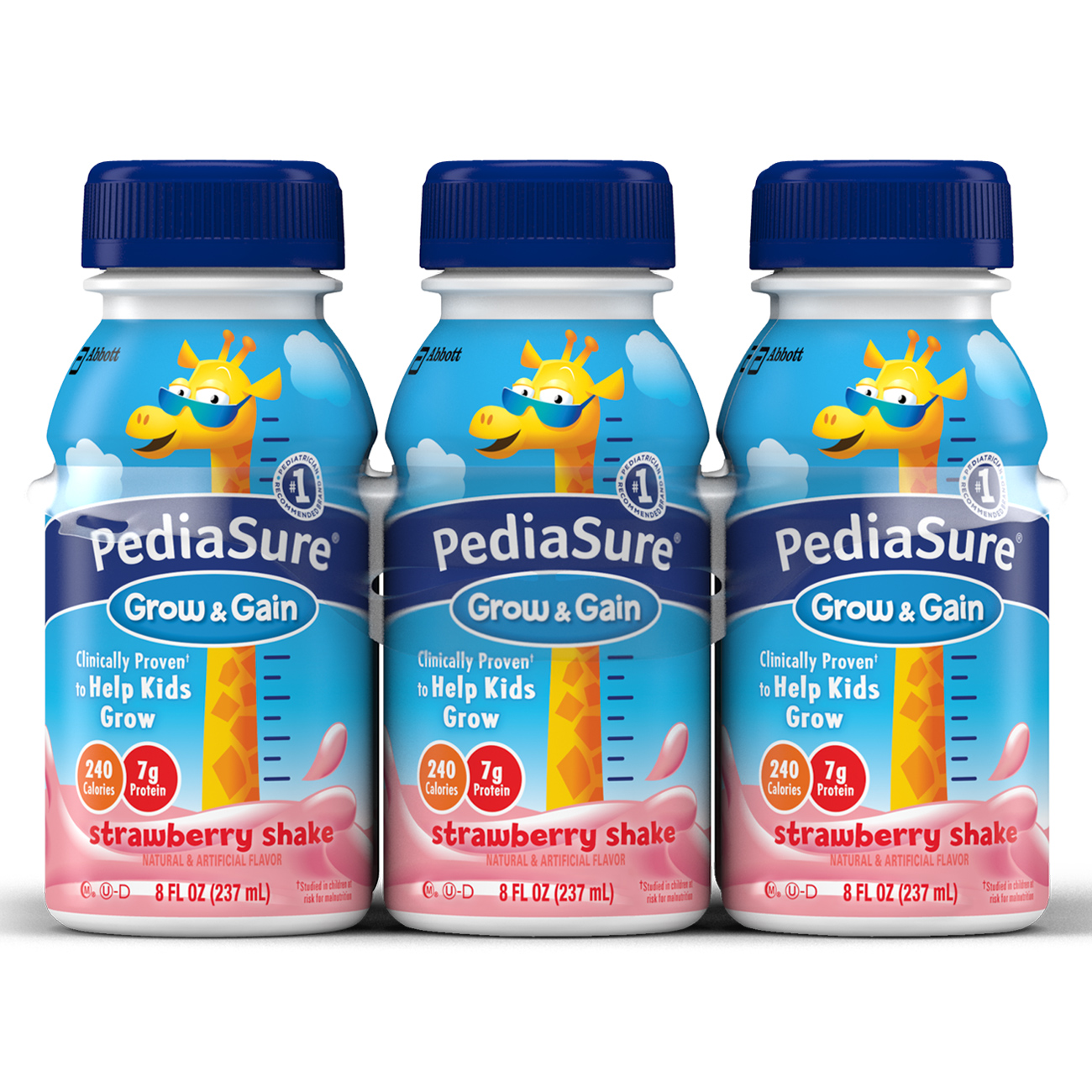PediaSure Nutrition Drink, Strawberry Shake, 8 fl oz (Pack of 6)