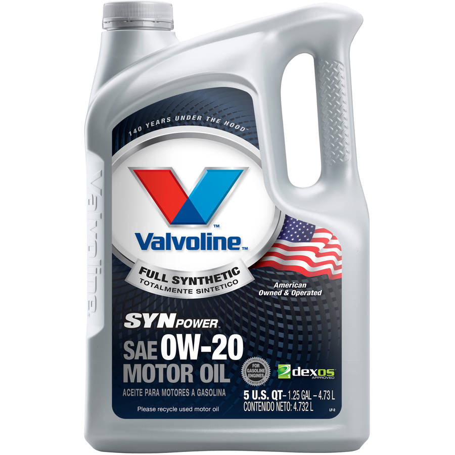 Valvoline SynPower Full Synthetic 0W-20 Motor Oil, 5 Quart