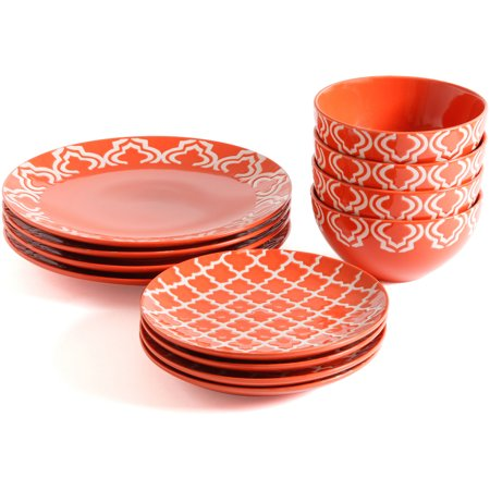 gibson studio aaliyah wax relief 12 piece dinnerware set