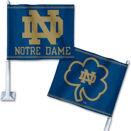 NCAA - Notre Dame Fighting Irish ND Logo Car Flag