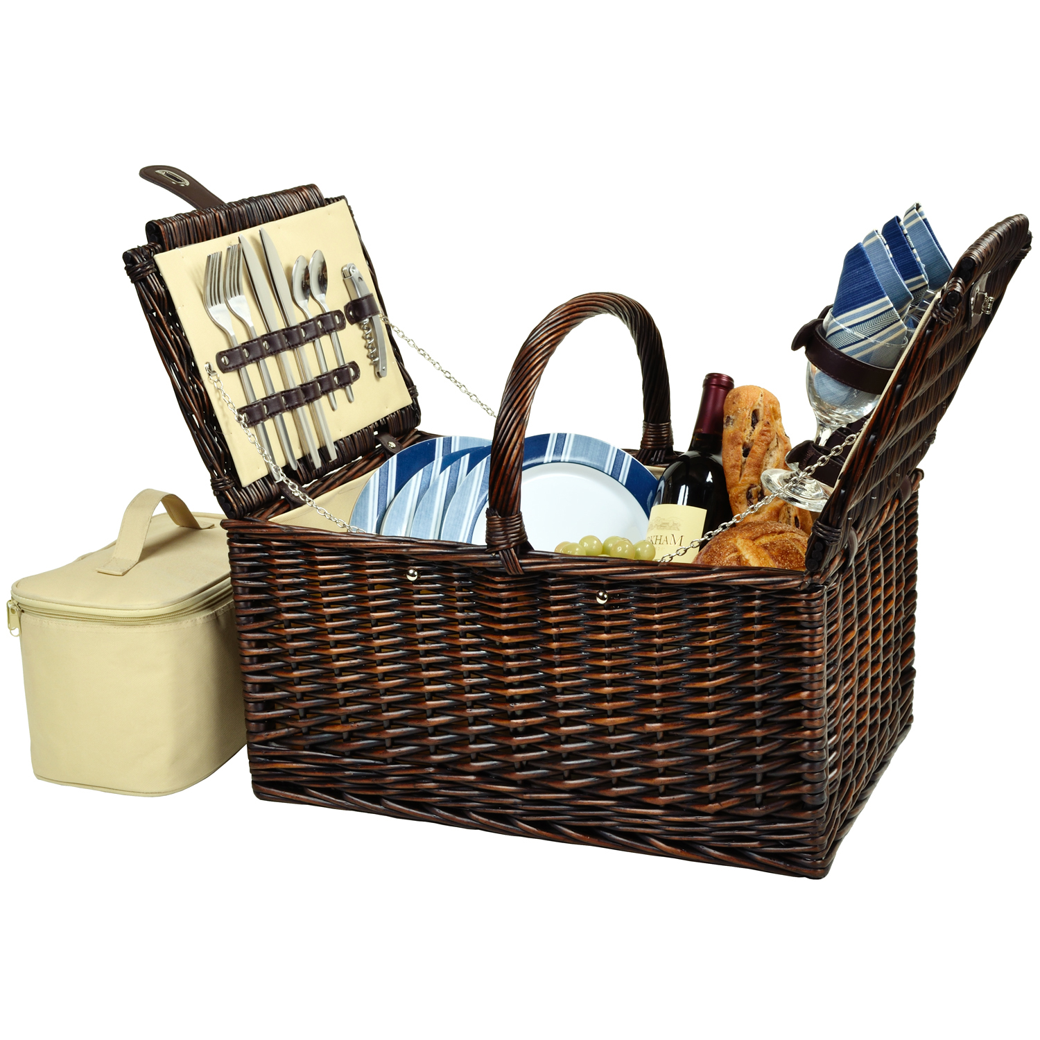 Picnic at Ascot Buckingham Picnic Basket for 4 (714-AG)