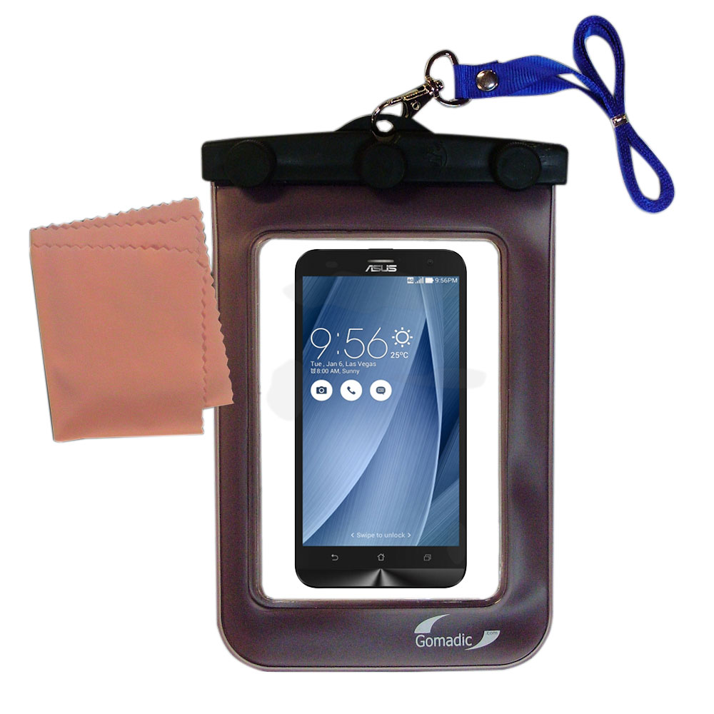 Gomadic Clean and Dry Waterproof Protective Case Suitablefor the Asus ZenFone 2 Laser to use Underwater