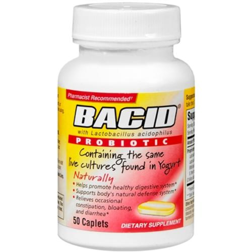Bacid Probiotic Caplets 50 Caplets (Pack of 3)