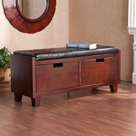 Amherst 2 Drawer Entryway Bench Espresso