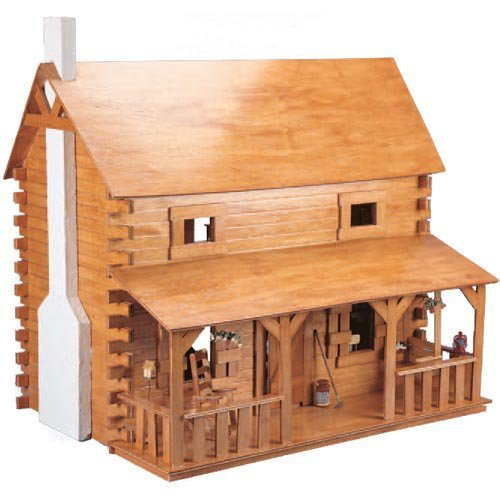 Greenleaf Creekside Cabin Dollhouse Kit - 1 Inch Scale