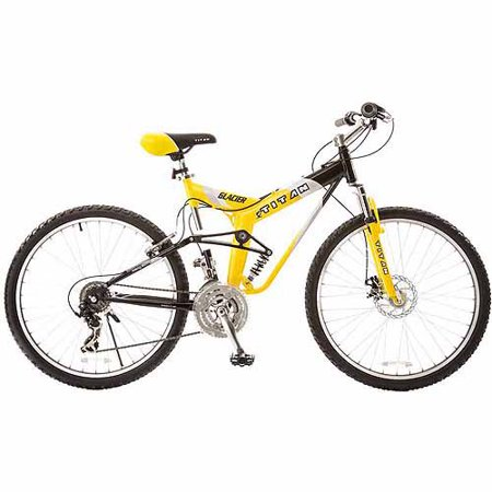 "19"" Titan Glacier-Pro Men's Mountain Bike, Yellow/Black"
