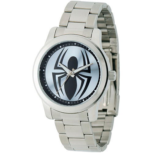 Marvel Spider Men's Casual Alloy Watch, Silver Bracelet