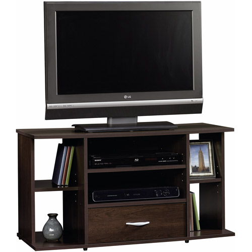 Sauder Beginnings Cinnamon Cherry Panel TV Stand for TVs up to 42""