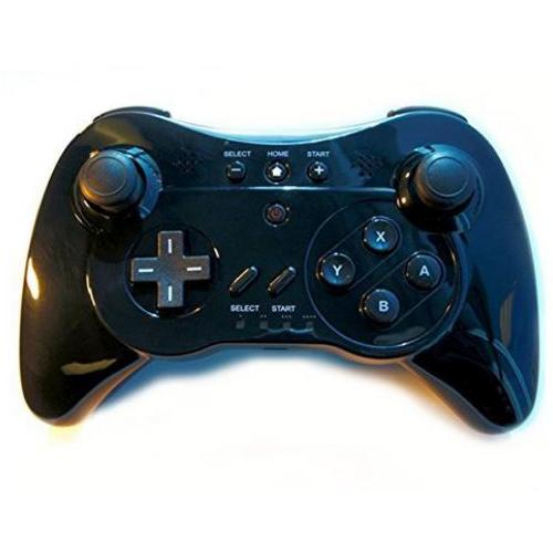 NEXiLUX Wireless Classic Pro Controller Gamepad for Nintendo Wii U, White/Wii U only -Black