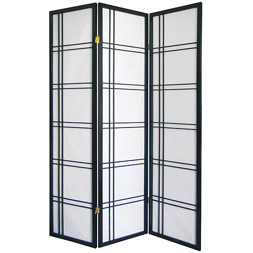 Girard 3-Panel Room Divider, Black