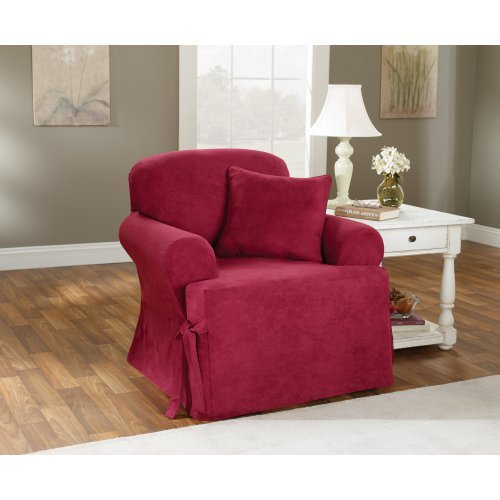 Sure Fit Soft Suede T-Cushion Chair Slipcover