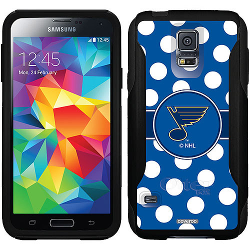 St. Louis Blues Polka Dots Design on OtterBox Commuter Series Case for Samsung Galaxy S5