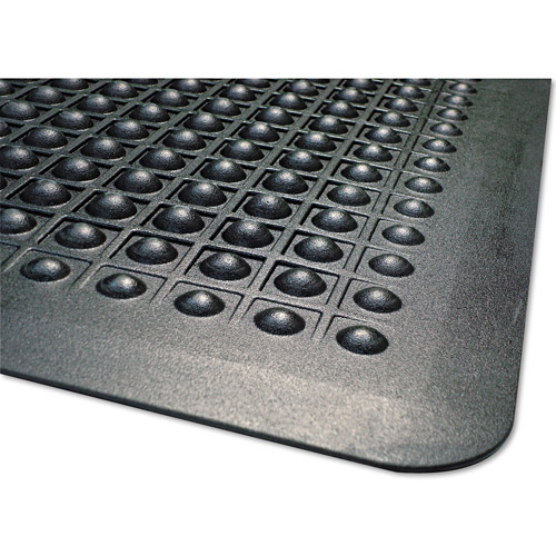 Guardian Flexstep Antifatigue Polypropylene Rubber Mat, 24 X 36, Black