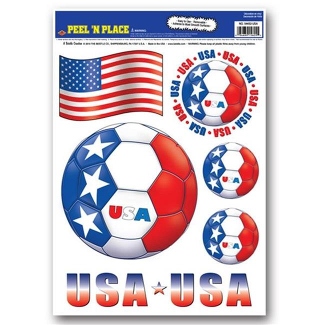 Beistle 54452-USA Peel N Place - United States - Case of 12