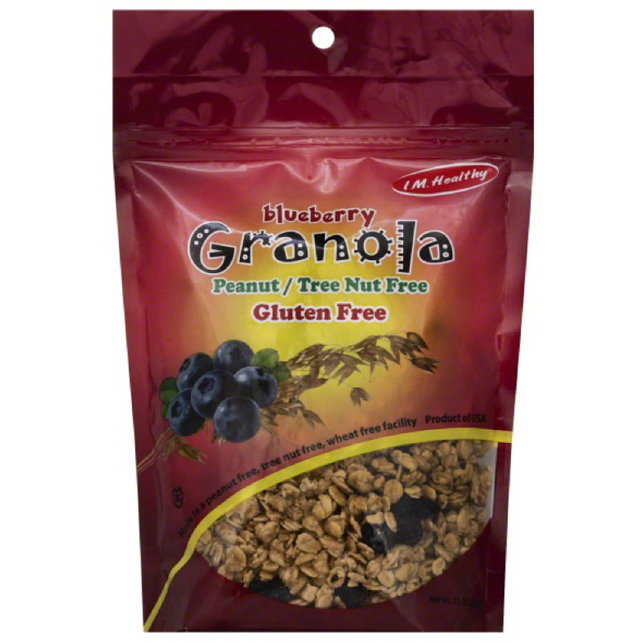 I M. Healthy Blueberry Granola, 12 oz, (Pack of 6)