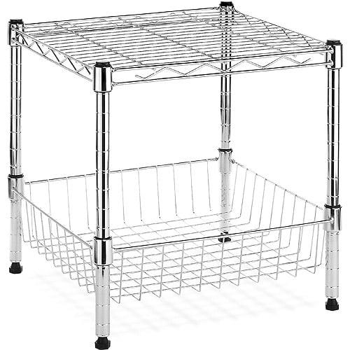 Whitmor Supreme Stacking Shelf With Basket