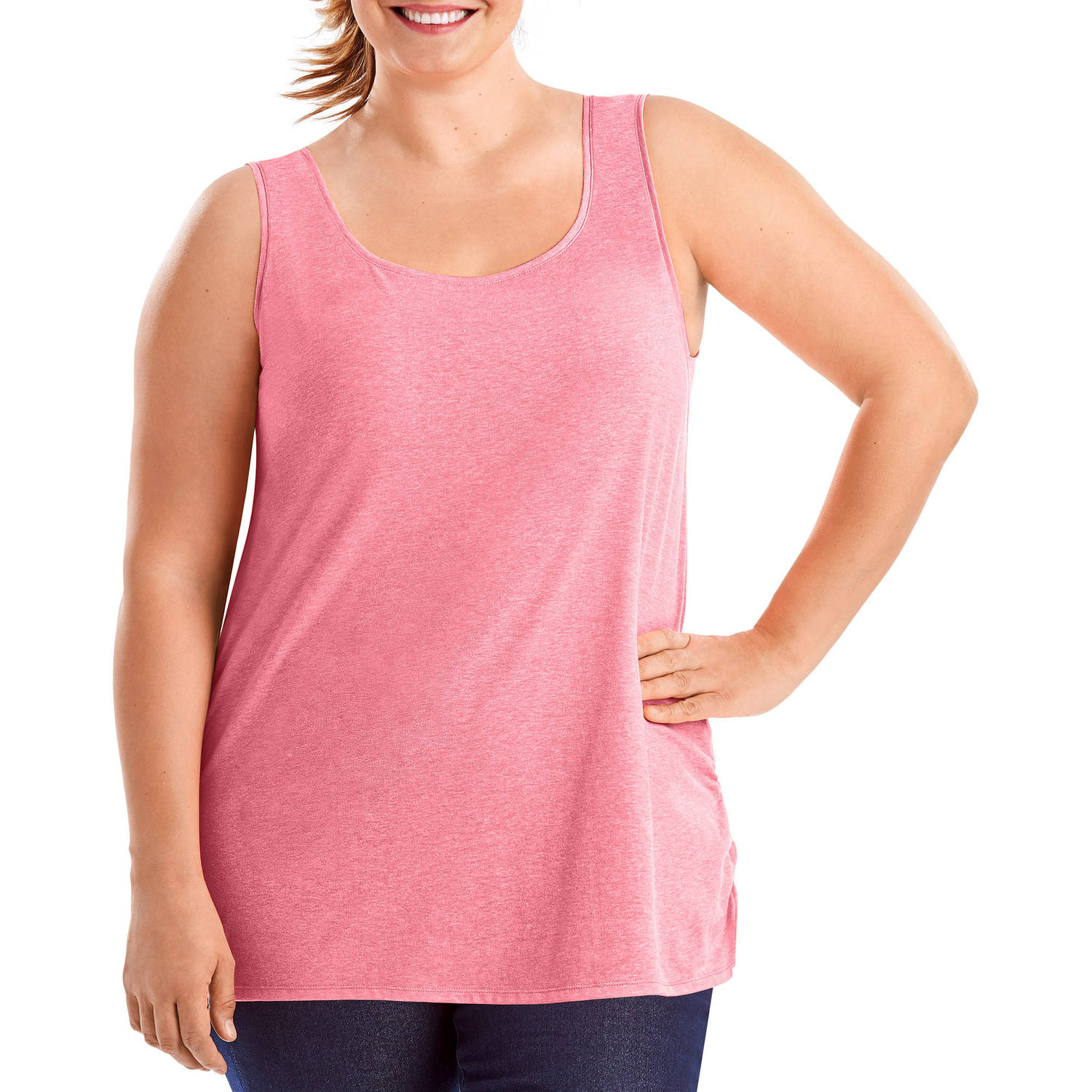 Just My Size Women's Plus-Size X-Temp Shirred Tank