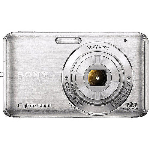 "Sony Cyber-shot W310 Silver 12MP Digital Camera, 4x Opt Zoom, 2.7"" LCD, SteadyShot, Smile Shutter"
