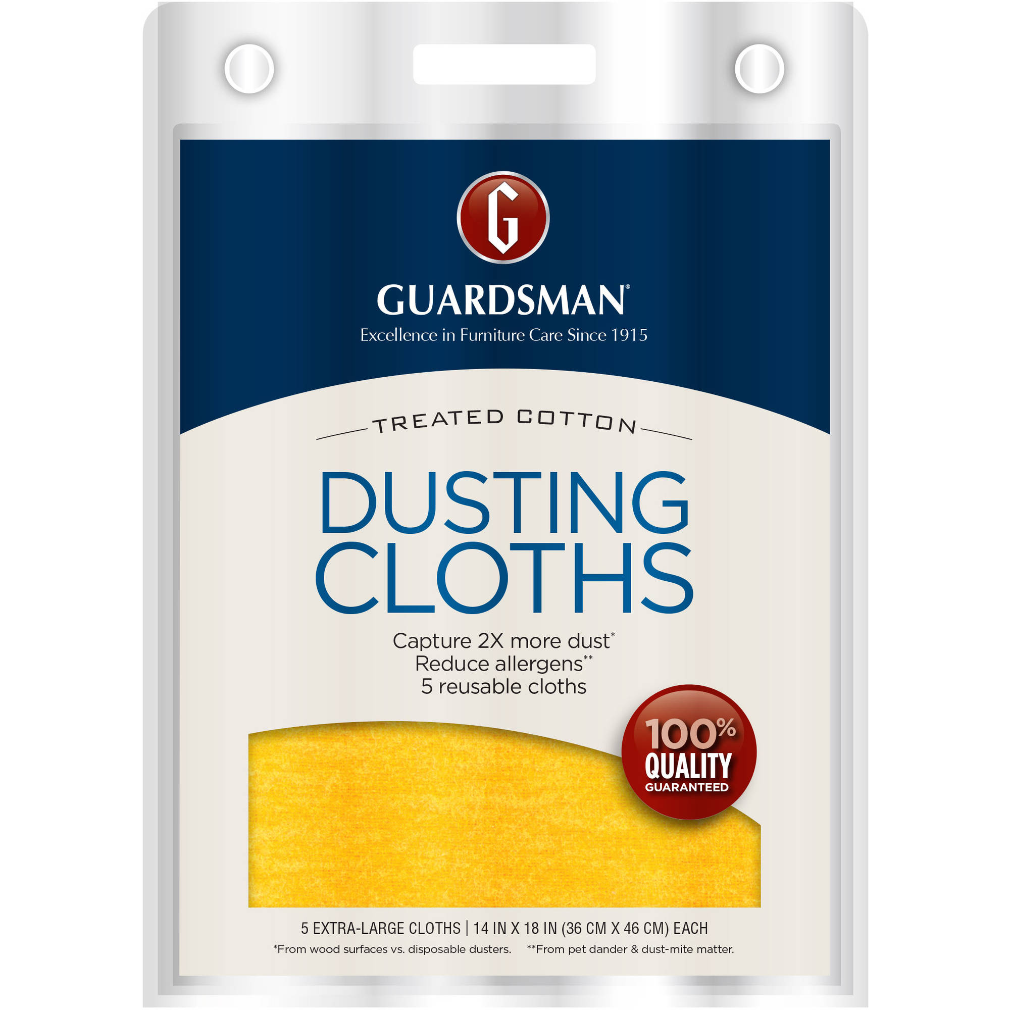 Guardsman Reusable Ultimate Dusting Cloths, 5 count