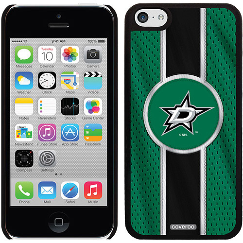 Dallas Stars Jersey Stripe Design on iPhone 5c Thinshield Snap-On Case by Coveroo