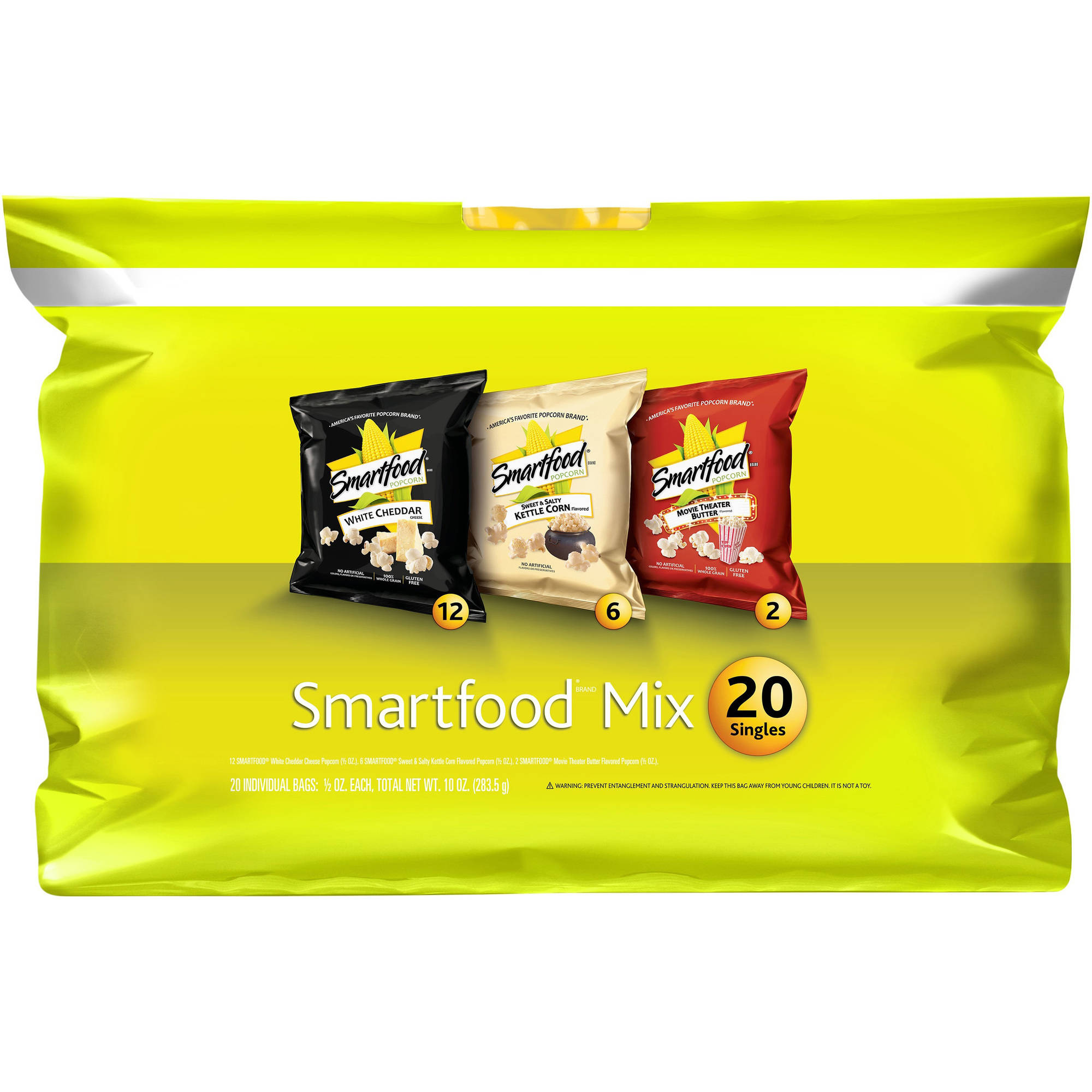 Smartfood Mix Popcorn Variety Pack, 0.5 oz, 20 count