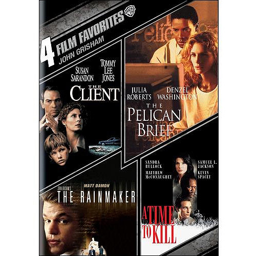 4 Film Favorites: John Grisham - The Client / The Rainmaker / The Pelican Brief / A Time To Kill