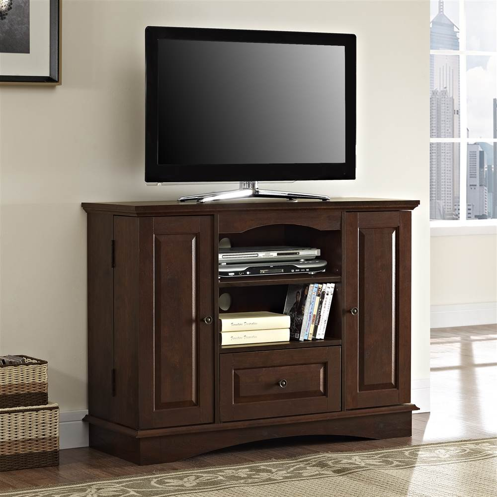 42 in. Bedroom TV Console w Media Storage