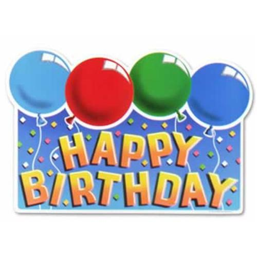 Beistle - 55280 - Glittered Happy Birthday Sign- Pack of 12
