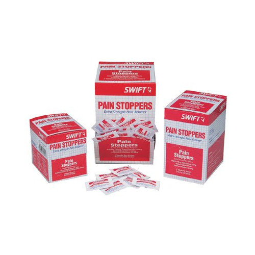 Swift First Aid Pain Stoppers Extra Strength Pain Relievers - pain stoppers extra strength 250/bx