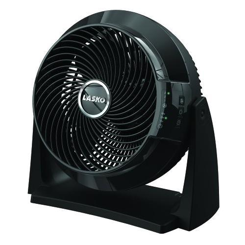 "Lasko 3637 Floor Fan - 10"" Diameter - 3 Speed - Remote, Programmable, Wall Mountable, Timer-off Function - Black"