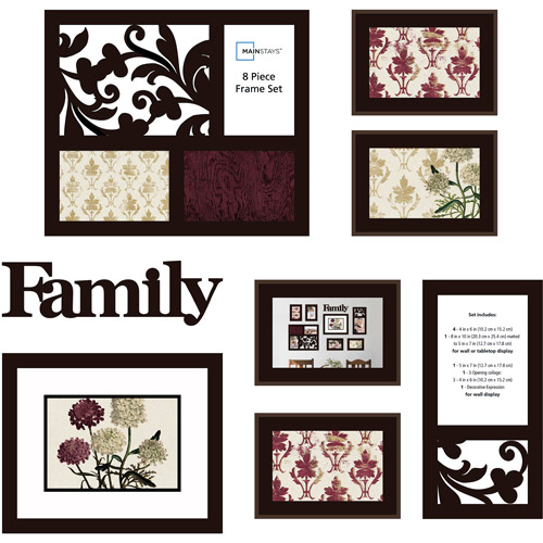Mainstays 8-Piece Family Frame Set