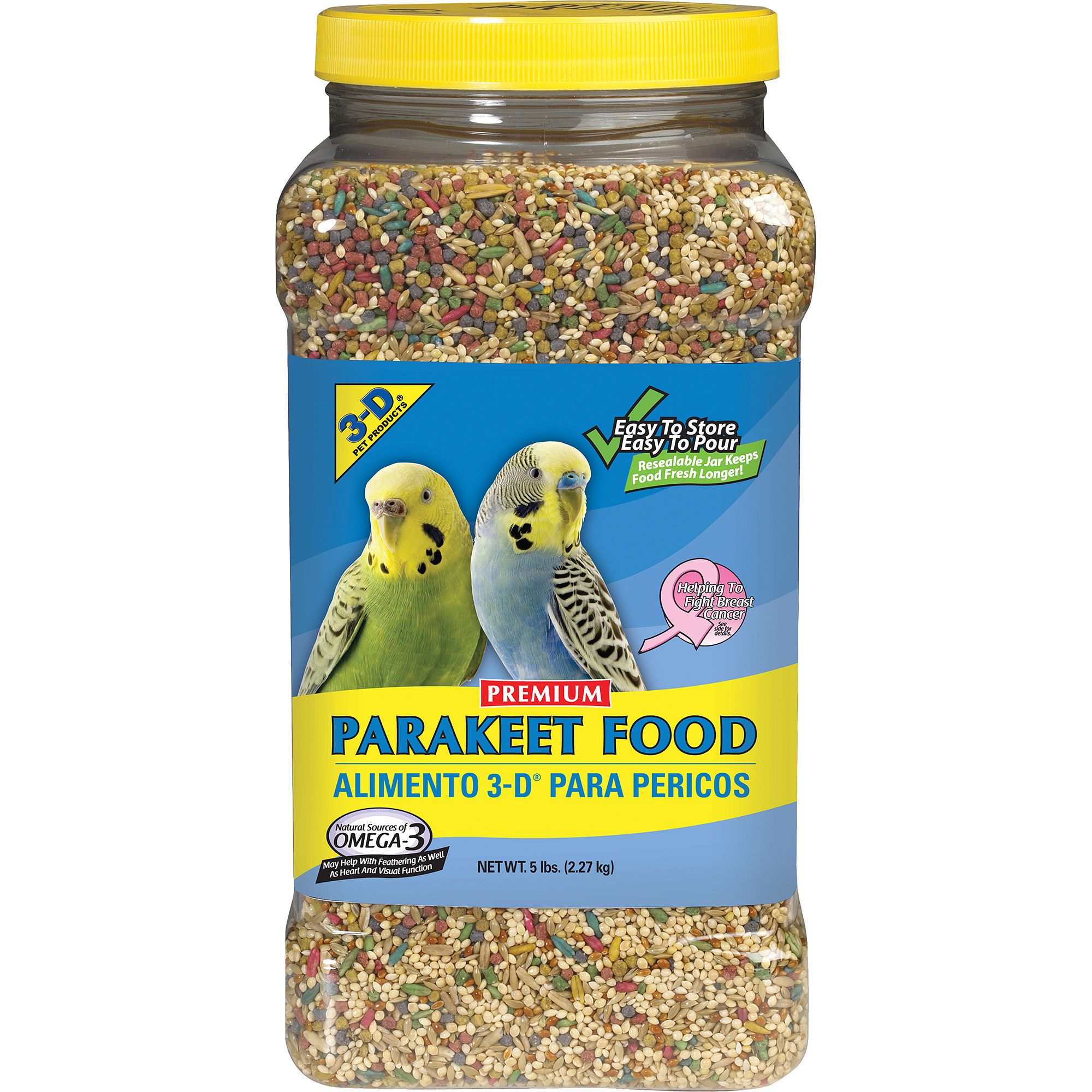 3-D Pet Products Premium Parakeet Food, 5 lb