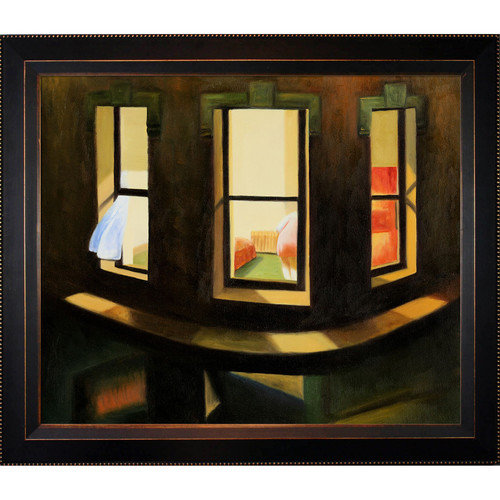 Tori Home Hopper Night Windows Canvas Art