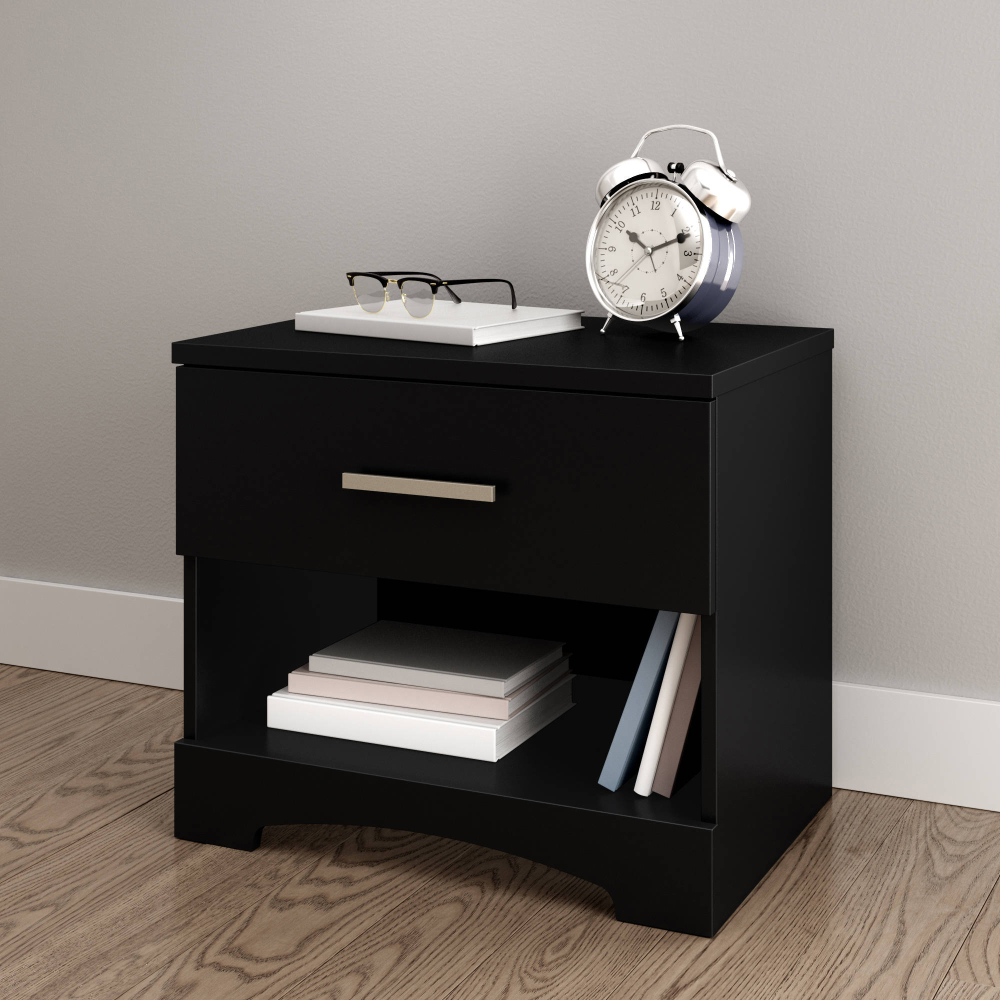 South Shore Gramercy 1-Drawer Nightstand, Multiple Finishes