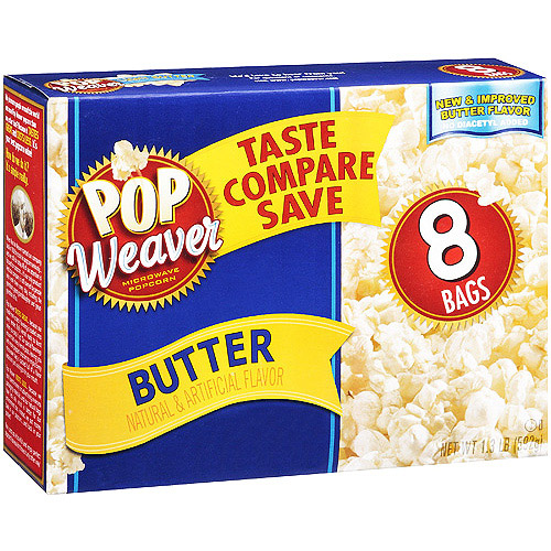Pop Weaver Butter Popcorn, 8 Pk