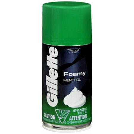Gillette Foamy Shaving Cream Menthol 11 oz