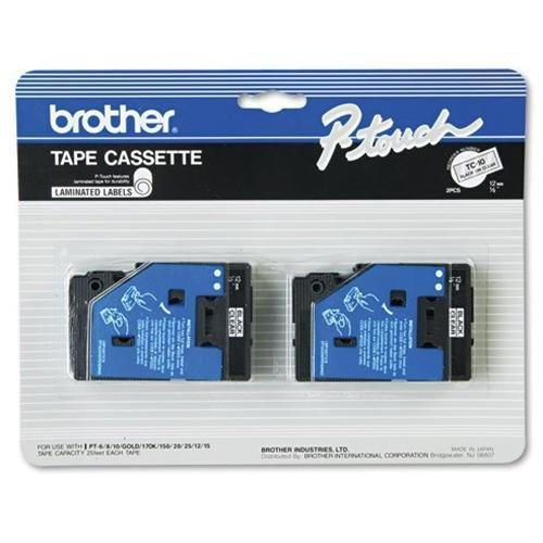 Brother International Tc10 Genuine Brother Brand Ptouch Tc10 2pk 1/2inch Black On Clear Supplies For Broth