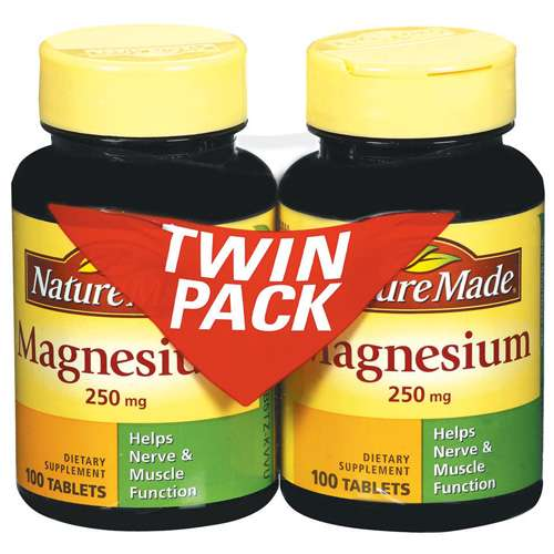 Nature Made Magnesium Twin Pack 200Ct Nature Made Magnesium Twin Pack Tablets 100 Ct Dietary Supplement 2